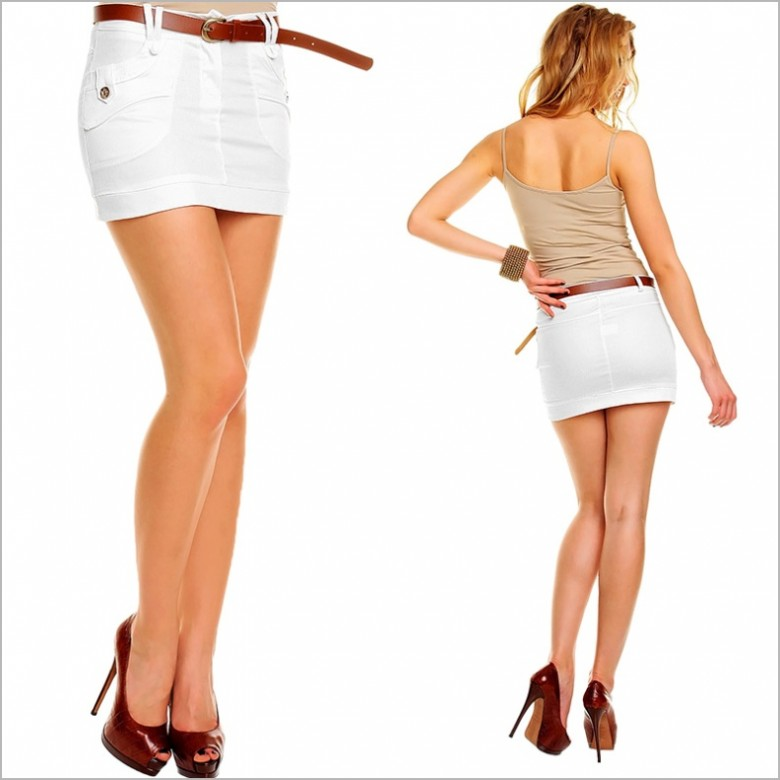 девушки в обтягивающих белых юбках если